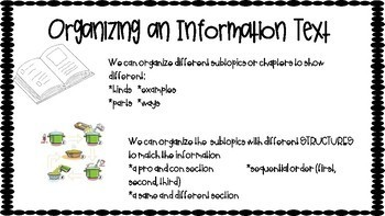 Writing Workshop Informational Unit Anchor Charts