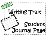 Writing Workshop Interactive Journal Page
