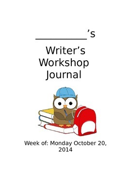 Writing Workshop Journal