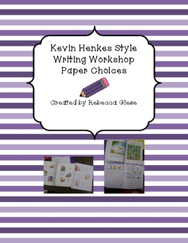 Writing Workshop {Kevin Henkes Style} Templates