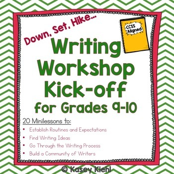 Writing Workshop Kick-off for Grades 9-10 {Common Core Aligned}