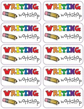 Writing Workshop Labels (FREEBIE)