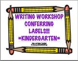 Writing Workshop Labels - Kindergarten