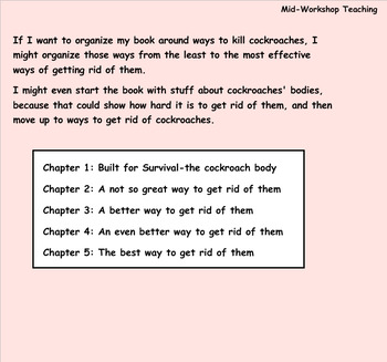 Writing Unit 2: The Art of Information Writing Grade 3 Lessons 1-5 SMART