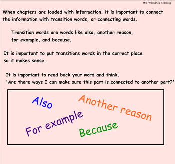 Writing Workshop Grade 3:The Art of Information Writing Unit 2 Lessons 6-11