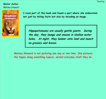 Writing Unit 2:The Art of Information Writing Grade 3 Lessons 6-11 SMART
