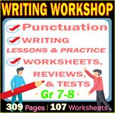 Writing Workshop | Middle School | 107 Worksheets | Lesson
