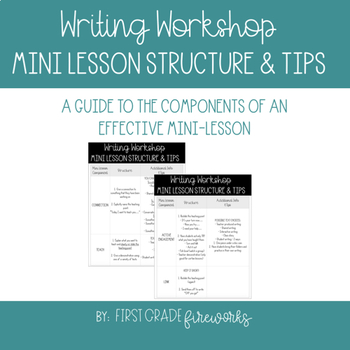 Writing Workshop Mini Lesson - Structure & Tips