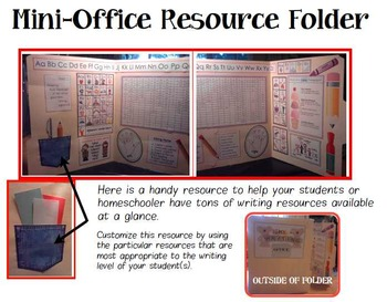 Writing Workshop Mini-Office Folder Resource