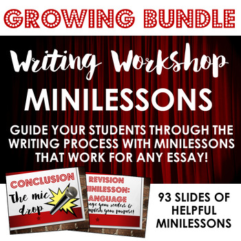 Writing Workshop Minilessons GROWING BUNDLE!!! - Distance Learning