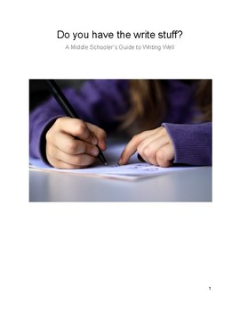 Writing Workshop Minilessons Student Resource