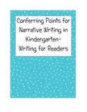 Writing Workshop Narrative Conferring Teaching Points