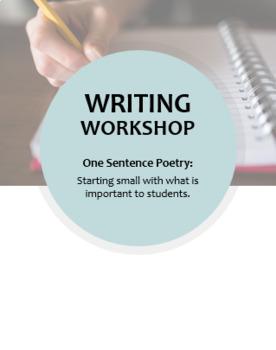 Writing Workshop -- One Sentence Poetry