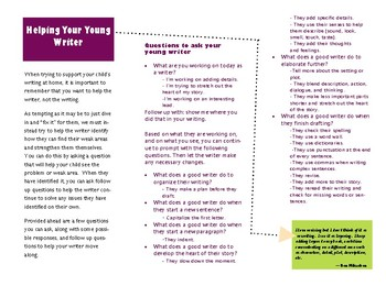 Writing Workshop Parent Brochure