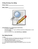 Writing Workshop: Peer Editing Checklist