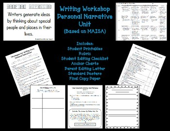 Writing Workshop Personal Narrative Unit