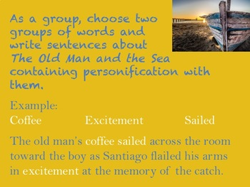 personification in the old man and the sea