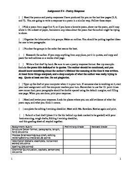 Writing Workshop - Poetry Analysis Common Core