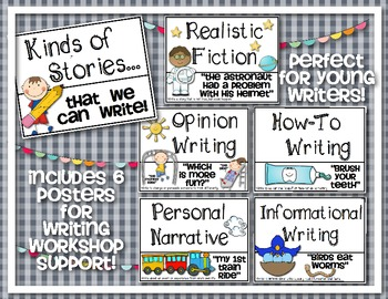 Writing Workshop Poster Set {Kinds of Stories We Write!}