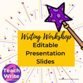 Writing Workshop Presentation Slides - Editable and Magic-Themed