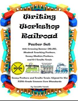 Writing Workshop Railroad Poster Set: Aligned to Common Core Writing Standards