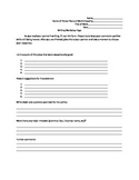 Writing Workshop Response Sheet