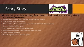 Writing Workshop Scary Stories