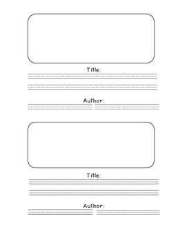 small book template