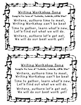 Writing Workshop Song
