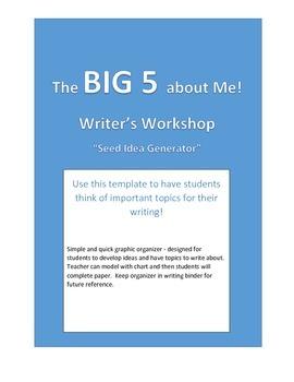 Writing Workshop - Starter Activity