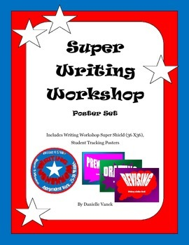 Writing Workshop Super Poster Set: Schedule Shield and Stu
