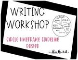 Writing Workshop Timeframe Poster for bulletin board