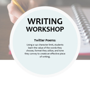 Writing Workshop -- Twitter Poems