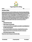 Writing Workshop Units of Study From Scenes to Series progress report