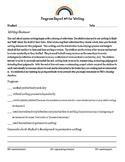 Writing Workshop Units of Study Parent Progress Report 1st Grade Writing Reviews