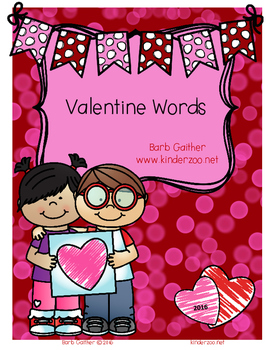 Writing Workshop---Valentine Words