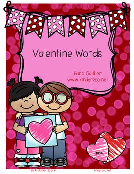 Writing Workshop---Valentine Words