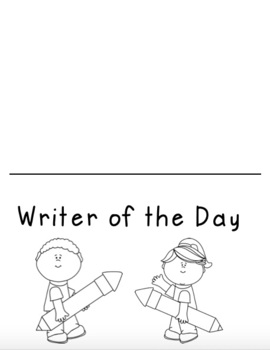 "Writing Workshop: ""Writer of the Day"""