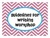Writing Workshop Writing Process Board Chevron