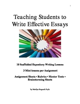 Writing Workshop for Middle School: Teaching Students to Write Effective Essays