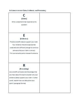 Writing Workshop in Science Handout