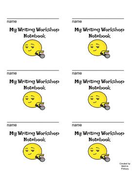 Writing Workshop notebook label- emoji theme