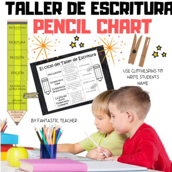 Writing Workshop pencil chart in Spanish