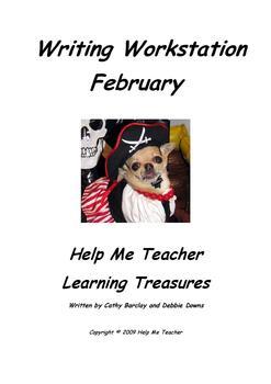 Kindergarten Writing Workstation - February Words - Help Me Teacher