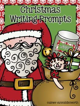 Writing Workstation Jar of Christmas Writing Prompts