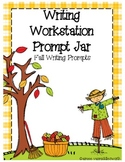 Writing Workstation Jar of Fall Writing Prompts