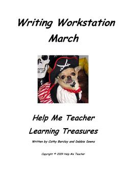 Kindergarten Writing Workstation - March Words - Help Me Teacher