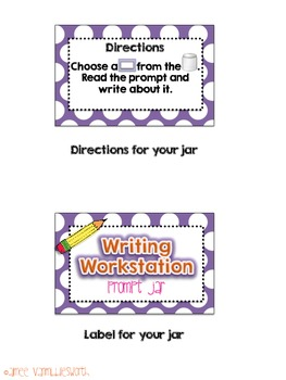 Writing Workstation and Centers Prompt Jar