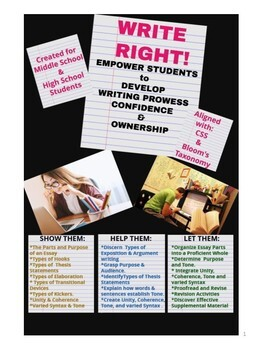Writing Process Activities: Write Right! Analytic Writing Made Easy
