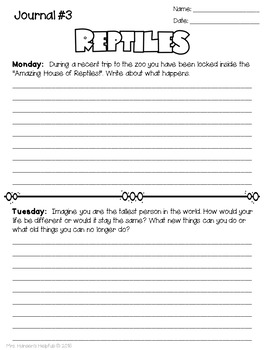 40 Journal Weeks of Daily Writing Prompts